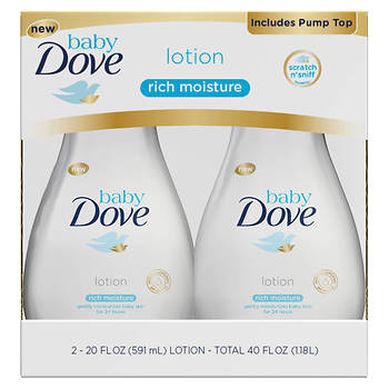 Baby Dove Rich Moisture Lotion, 20 oz - 2 pack