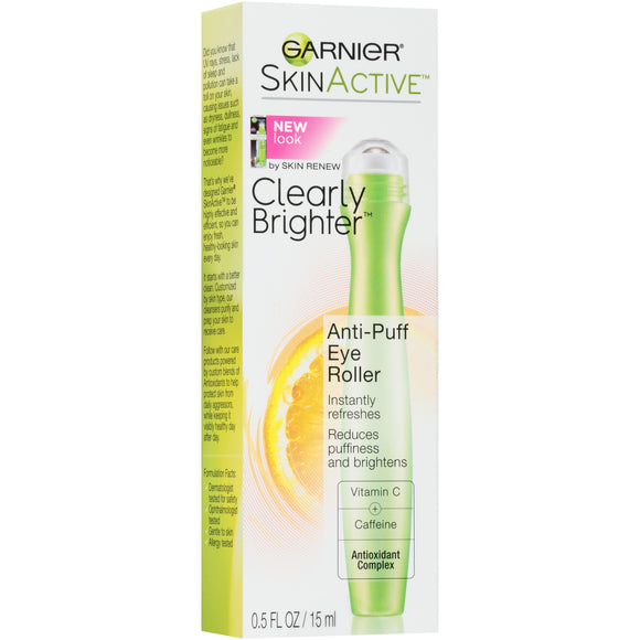 Garnier SkinActive Clearly Brighter Anti-Puff Eye Roller, 0.5 fl. oz.