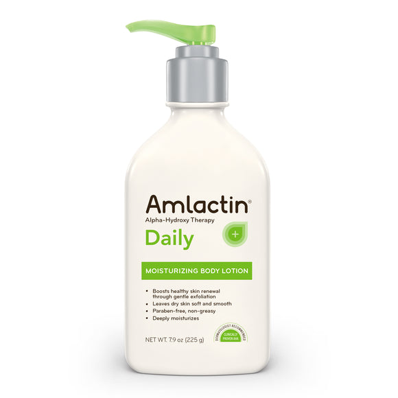 AmLactin Daily Moisturizing Body Lotion, 7.9 Ounce Pump Bottle