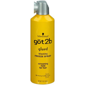 Schwarzkopf Got2b Glued Blasting Freeze Spray, 12 Oz