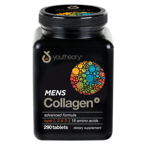 Youtheory Men's Collagen Advanced 290ct (1Bottle)