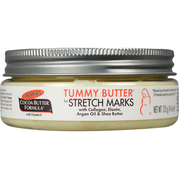 Palmer's Cocoa Butter Formula Tummy Butter for Stretch Marks and Pregnancy Skincare, 4.4 oz.