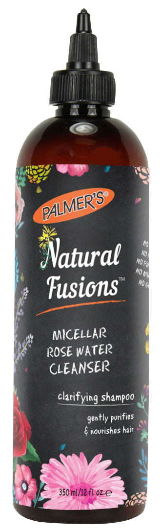 Palmer's Natural Fusions Micellar Rose Water Cleanser clarifying shampoo/ 12 fl. oz.