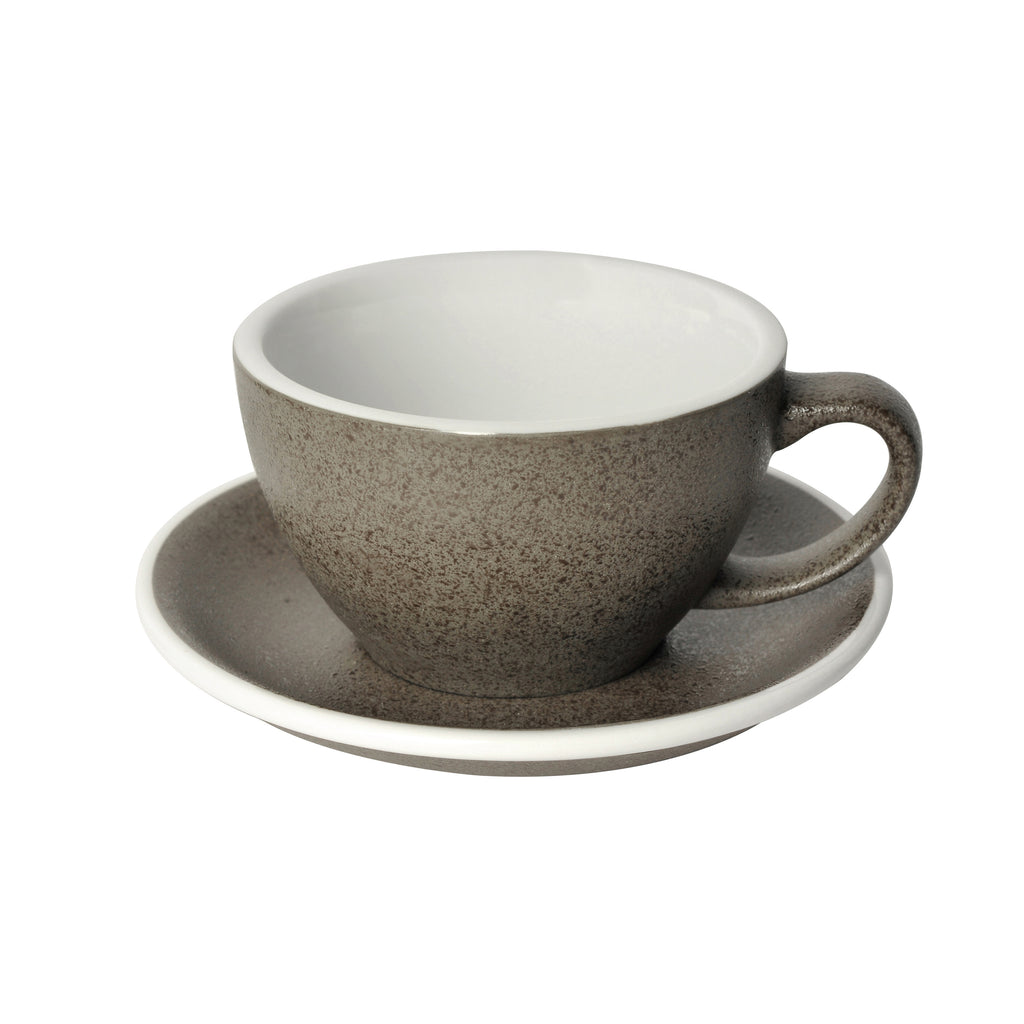 Egg 300ml Latte Cup & Saucer Set (Potters Colours)