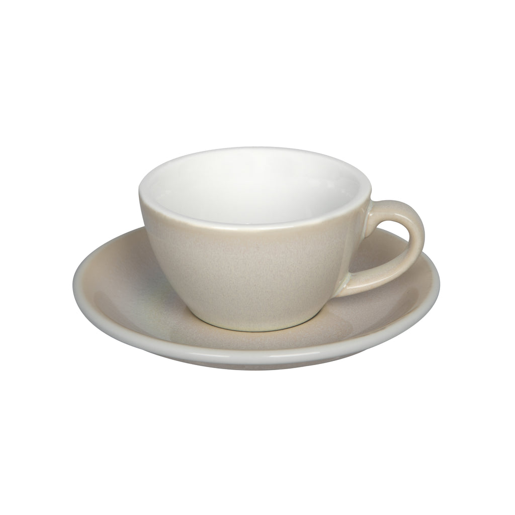Egg 150ml Flat White Cup & Saucer Set (Potters Colours)