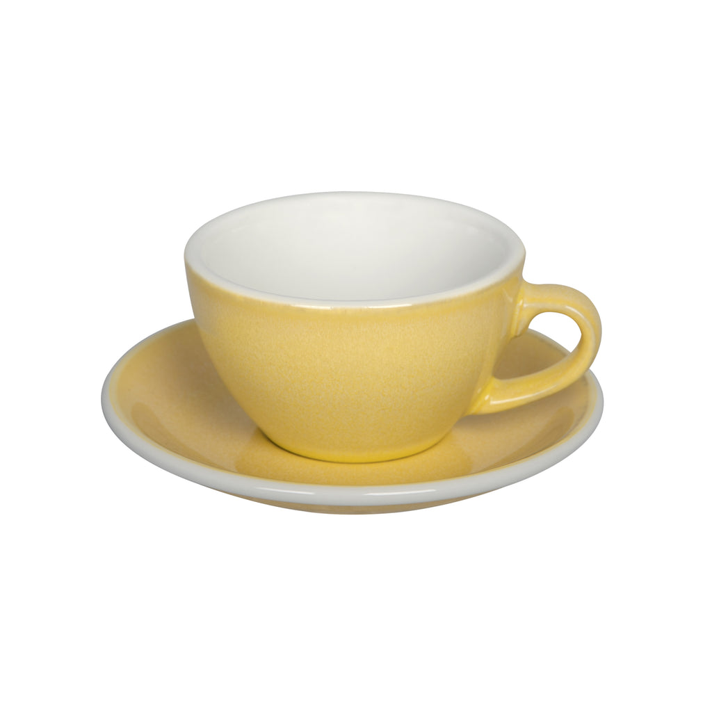 Egg 200ml Cappuccino Cup & Saucer Set (Potters Colours)