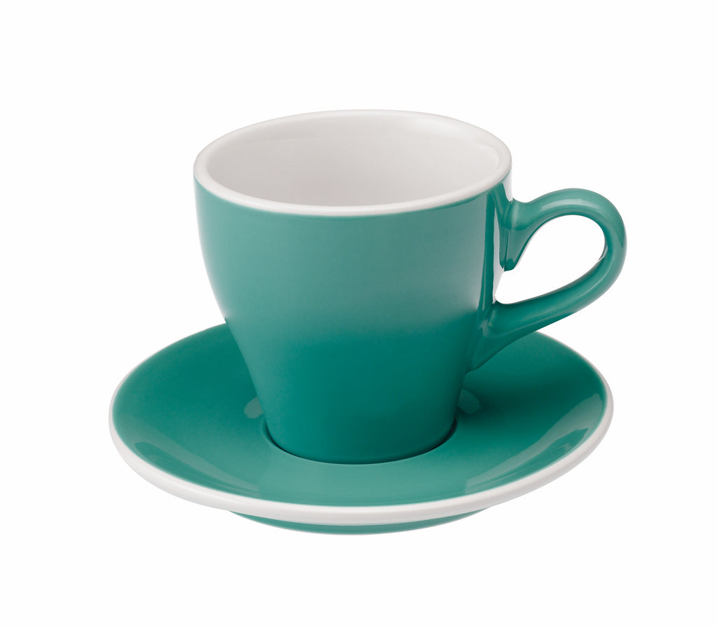 Tulip 280ml Latte Cup & Saucer Set
