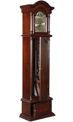 Gun Concealment Furniture Grandfather Clock Cabinet Storage Rifle Ammo Shotgun