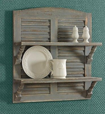 Shabby Chic Shutter Shelf