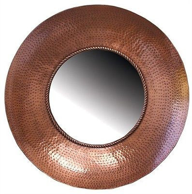 Hammered Copper Mirror