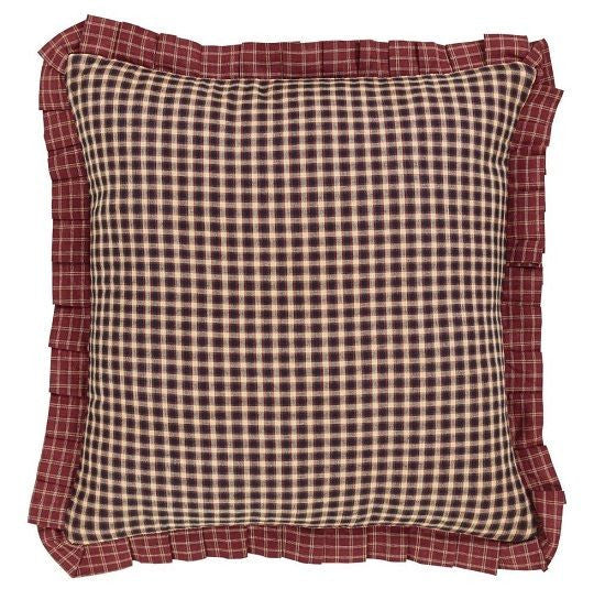 "Cabin Decor Fabric Throw Pillow 16"" Country Patchwork Matches Quilt Collection"