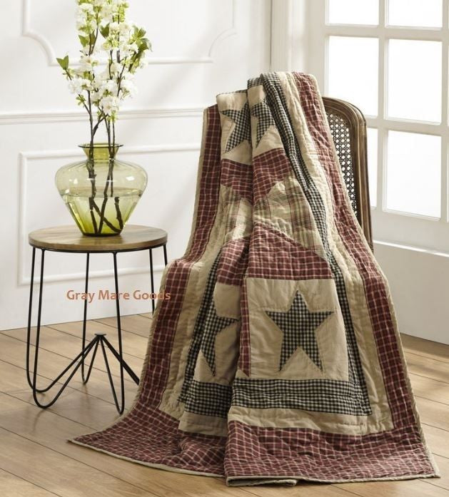 Plymouth Star Throw Blanket