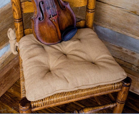 Burlap Fabric Chair Pads
