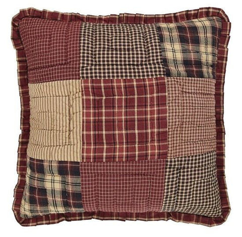 "Cabin Decor Quilted Euro Sham 26"" Country Patchwork Matches Quilt Collection"