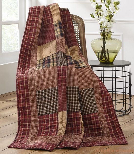 Cabin Decor Throw Blanket Quilt Authentic Country Patchwork Quilt And Bedspreads