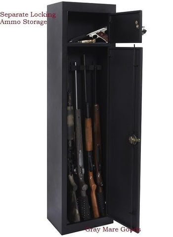 Gun Safes 5 Rifle Safe Vaults Cabinet Separate Locking Ammo Storage Security NEW