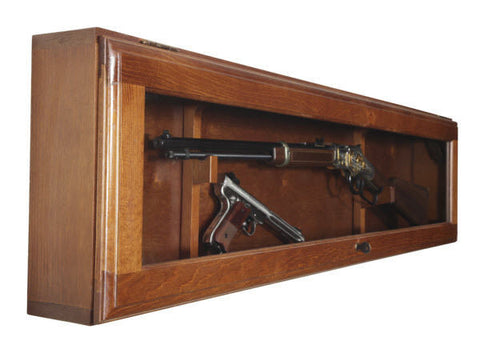Wood Gun Racks Gun Collector Display Case