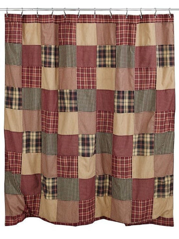 Cabin Decor Shower Curtain Authentic Country Patchwork Matches Quilt Collection