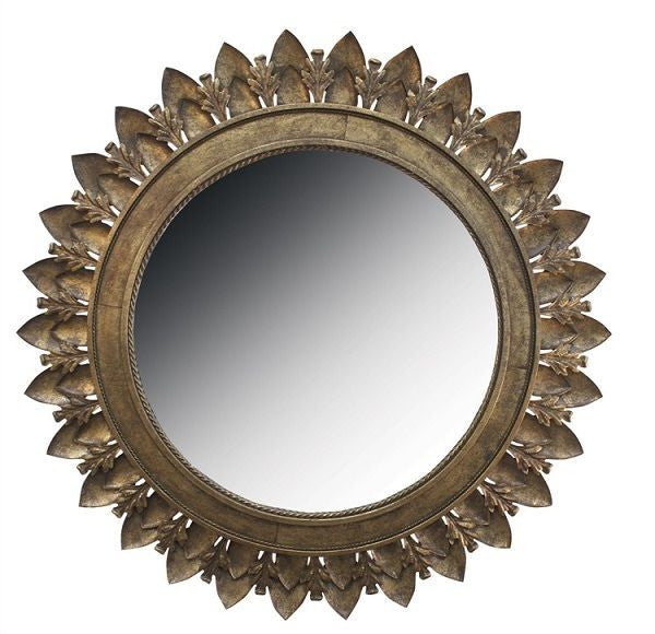 Leaf Medallion Mirror
