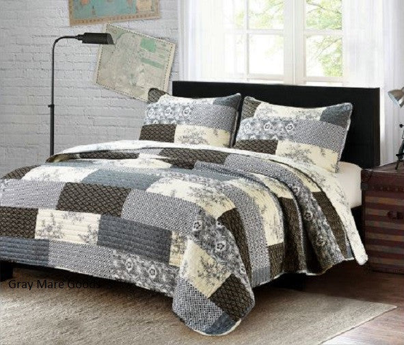 Concord Gray Quilt Set