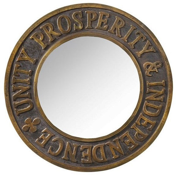 Vintage Inspired Prosperity Mirror Unity Prosperity Independence Commemorative
