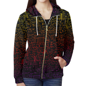 Math Color All Over Print Full Zip Hoodie