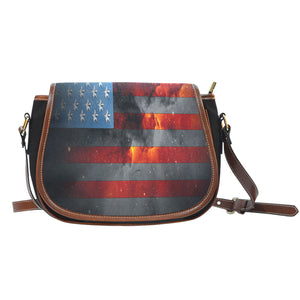 American Space Flag Saddle Bag