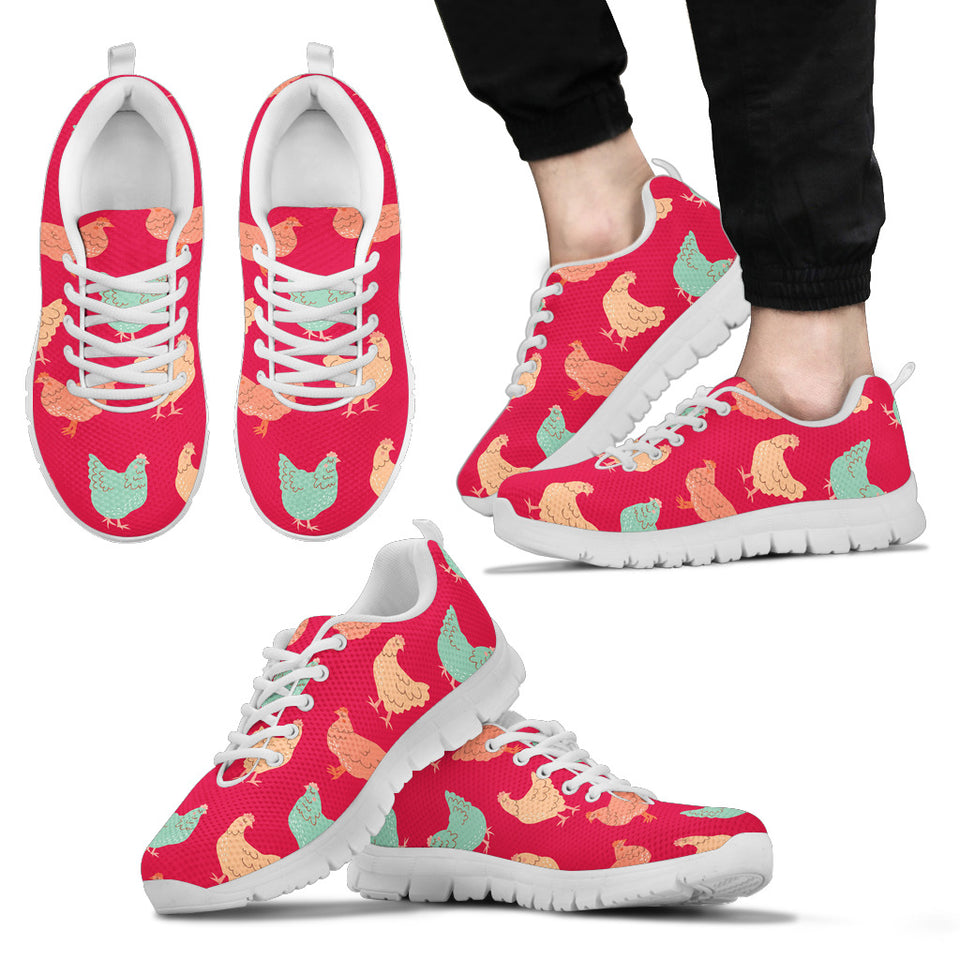 Red Vintage Chicken Sneakers Shoes
