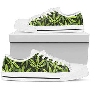 Cannabis Marijuana Weed Floral Low Top Shoes
