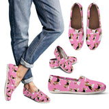 Cute Beagles On Pink Women's Casual Shoes