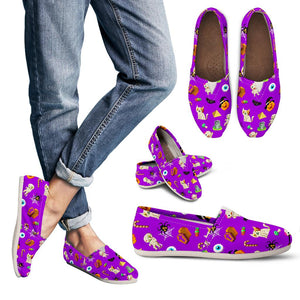 Purple Halloween Pattern Women's Casual Shoes
