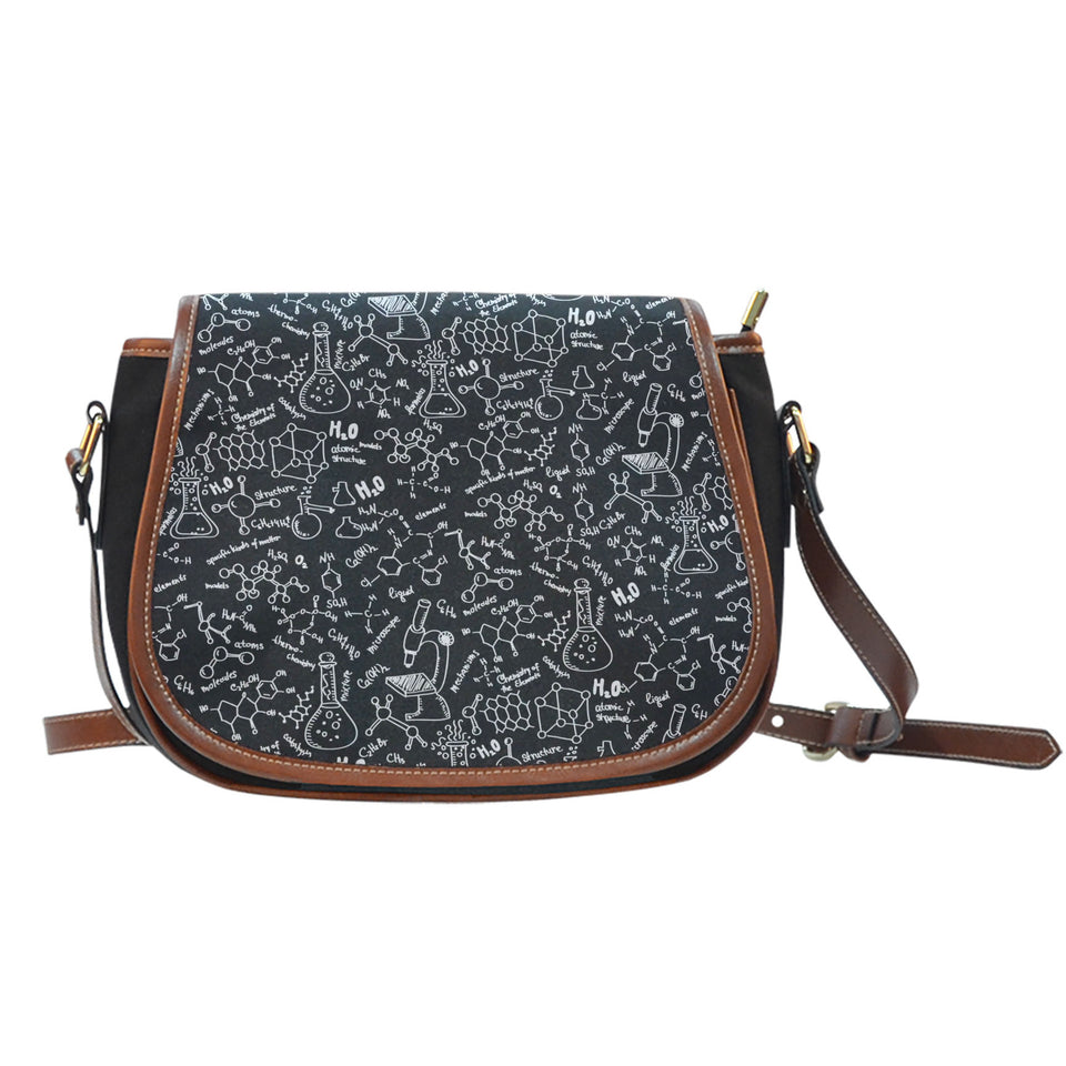 Chemistry Canvas/Leather Saddle Bag