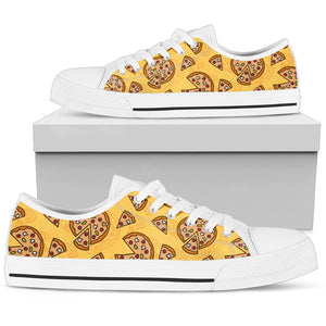 Pizza Pattern Low Top Shoes