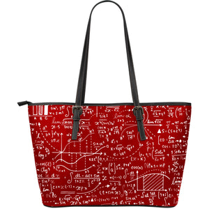 Math Large Leather Tote