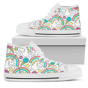 Unicorn Sweet High Top Shoes