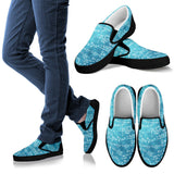 Math Blue Slip Ons