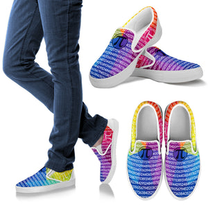 Math Pi Colorful Slip Ons