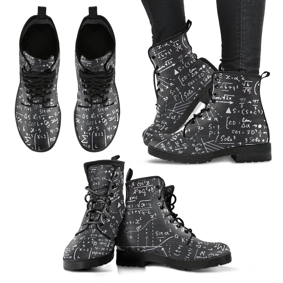 Math Leather Boots