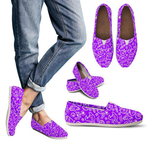 Purple Halloween Pumpkins Women's Casual Shoes
