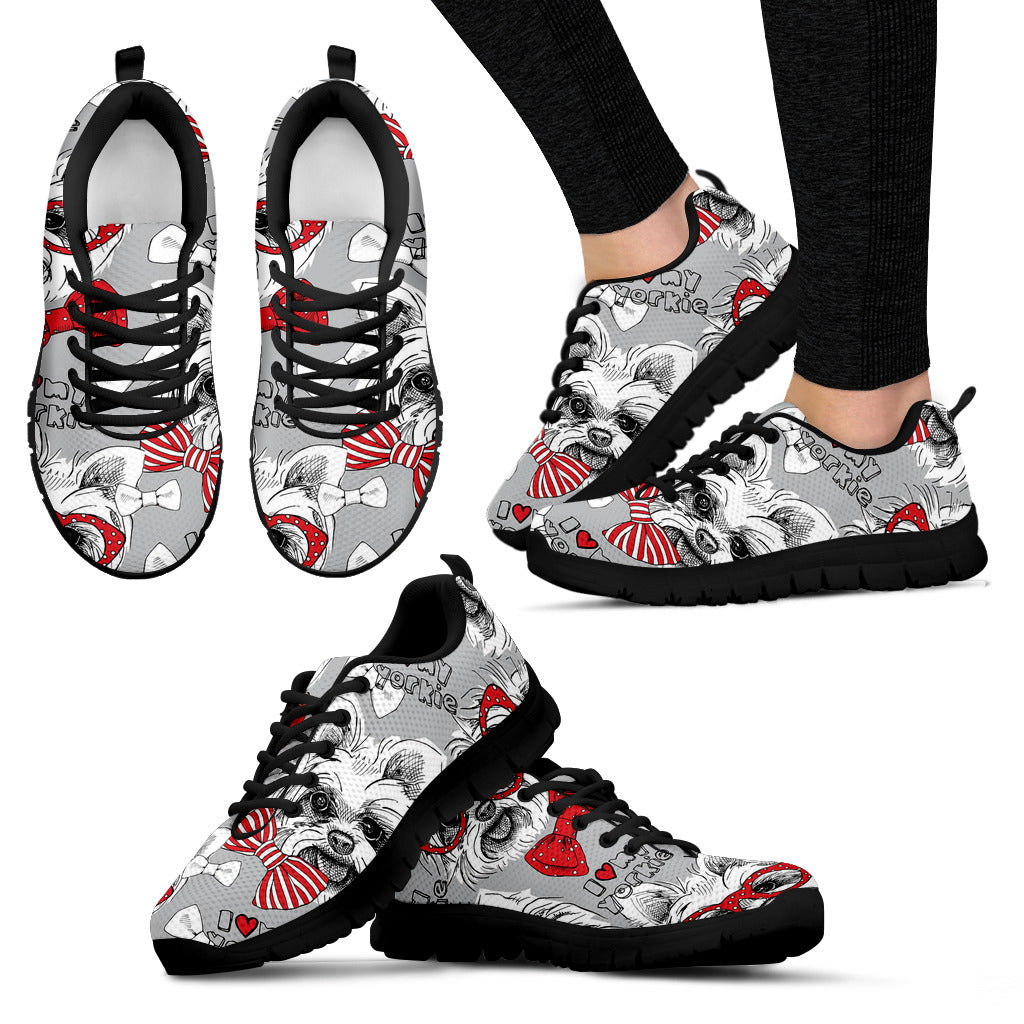 Yorkshire Terriers Gray Sneakers Shoes