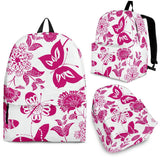Pink Floral Butterfly Backpack