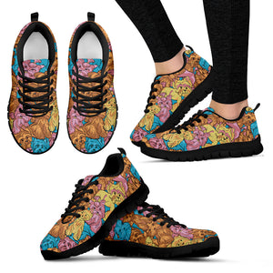 Colorful Yorkshire Terriers Sneakers Shoes