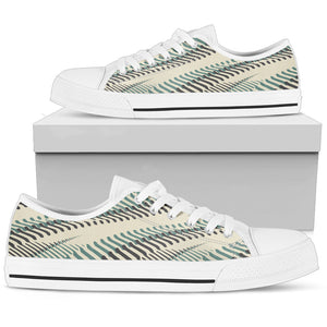 Vintage Wavy Striped Piano Low Top Shoes