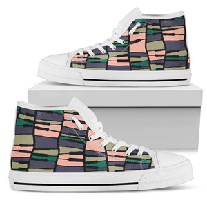 Piano Contrast Tones High Top Shoes