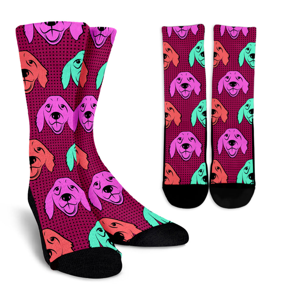 Color Labrador Retriever Crew Socks