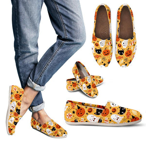 Halloween Pumpkin Ghost Cat Skull Women's Casual Shoes
