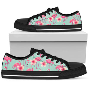Pink Flamingo Low Top Shoes