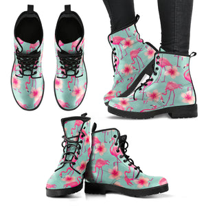 Pink Flamingo Leather Boots