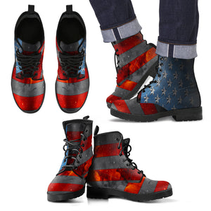 American Space Flag Men's Leather Boots