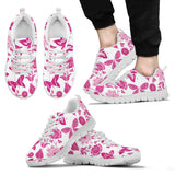Pink Floral Butterfly Sneakers Shoes